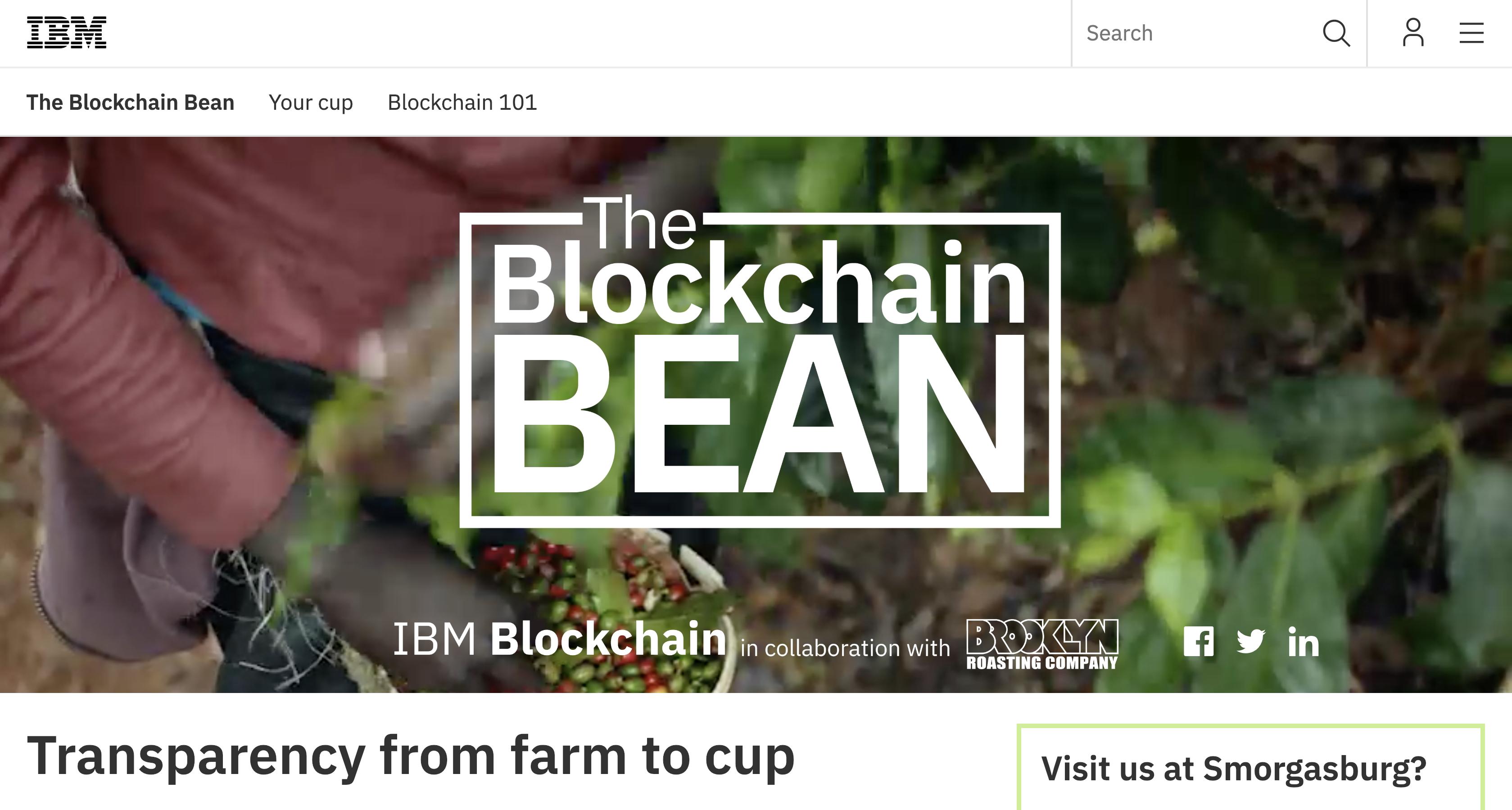 Blockchain Bean: A blockchain network based on the coffee supply chain.